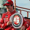 July 11: Pole winner, Scott Dixon, at the Iowa Corn Indy 300.