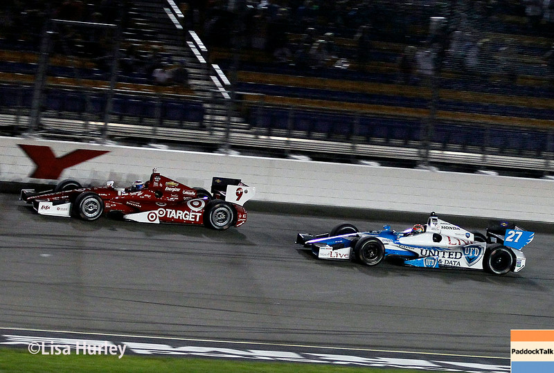 July 12: Scott Dixon and James Hinchcliffe at the Iowa Corn Indy 300.