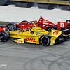 July 12: Ryan Hunter-Reay and Tony Kanaan at the Iowa Corn Indy 300.