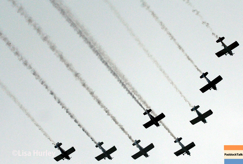 July 12: The flyover at the Iowa Corn Indy 300.