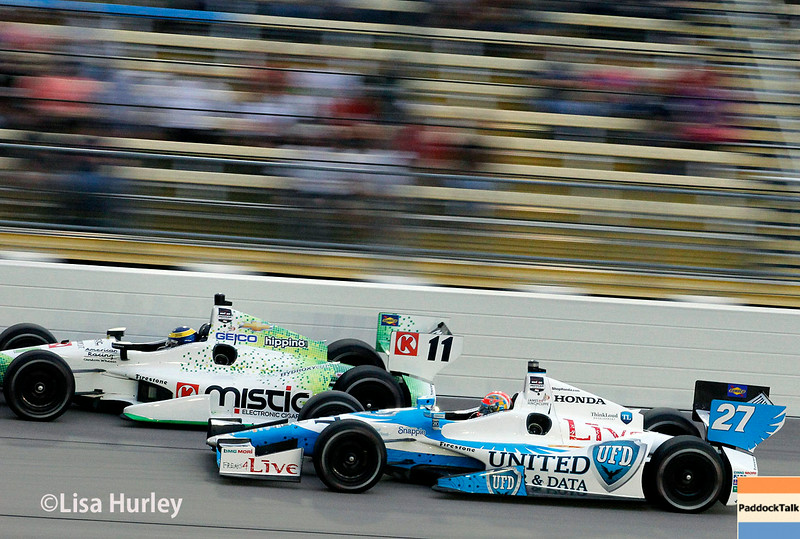 July 12: Sebastien Bourdais and James Hinchcliffe at the Iowa Corn Indy 300.