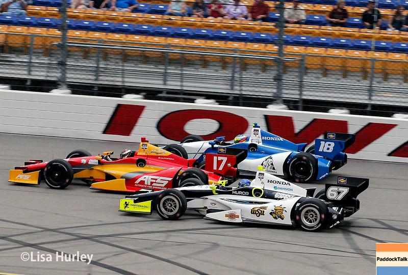 July 12: Track action at the Iowa Corn Indy 300.
