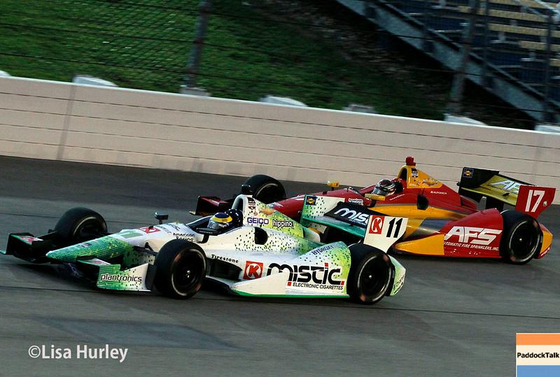 July 12: Sebastien Bourdais and Sebastian Saavedra at the Iowa Corn Indy 300.