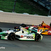 July 12: Sebastien Bourdais and Sebastian Saavedra at the Iowa Corn Indy 300.