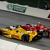 July 12: Ryan Hunter-Reay and Scott Dixon at the Iowa Corn Indy 300.