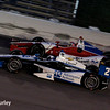 July 12: Juan Montoya and Justin Wilson at the Iowa Corn Indy 300.