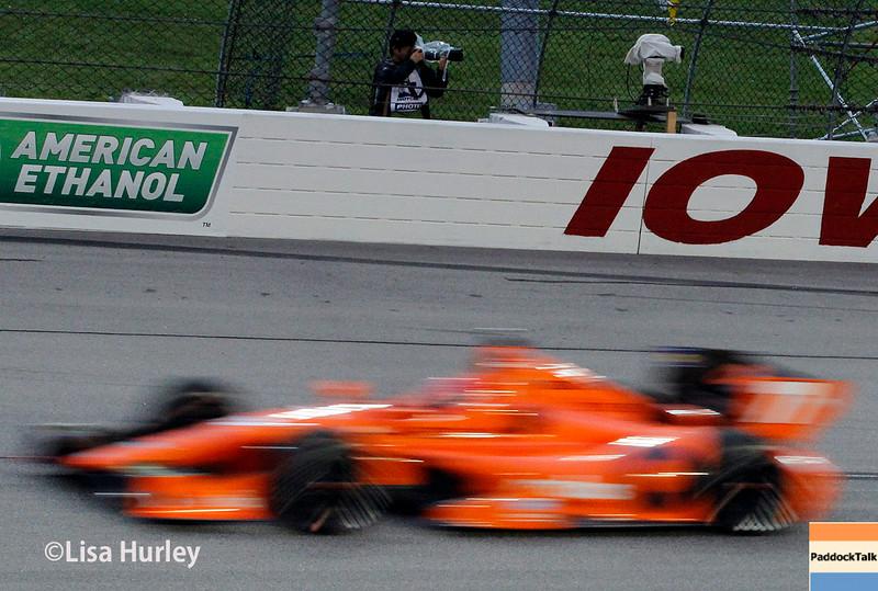 July 12: Simon Pagenaud at the Iowa Corn Indy 300.