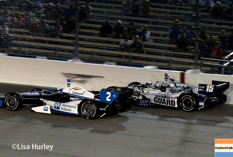 July 12: Juan Montoya and Graham Rahal at the Iowa Corn Indy 300.