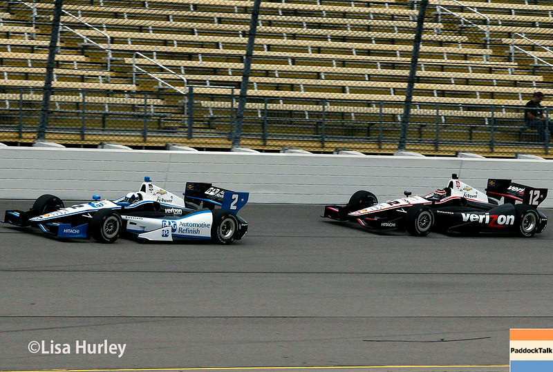 July 11: Juan Montoya and Will Power at the Iowa Corn Indy 300.