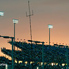 July 12: The sun sets over the grandstands at the Iowa Corn Indy 300.