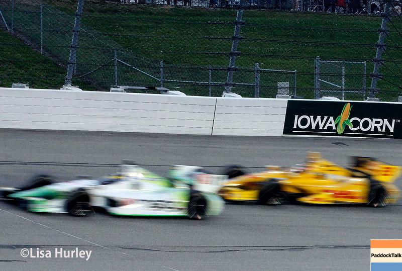 July 12: Sebastien Bourdais and Ryan Hunter-Reay at the Iowa Corn Indy 300.