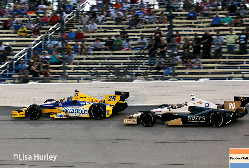 July 12: Marco Andretti and Ed Carpenter at the Iowa Corn Indy 300.