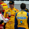 July 11: Tony Kanaan, Ryan Hunter-Reay and Marco Andretti at the Iowa Corn Indy 300.