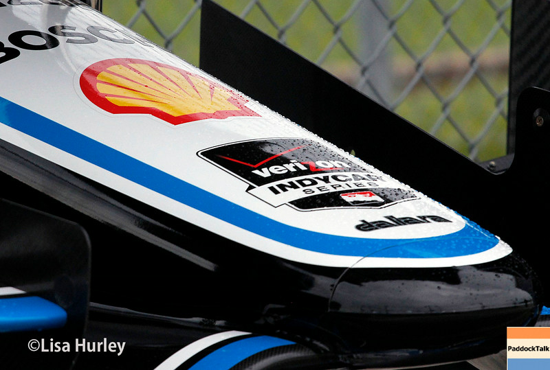 July 11: Juan Montoya's car at the Iowa Corn Indy 300.