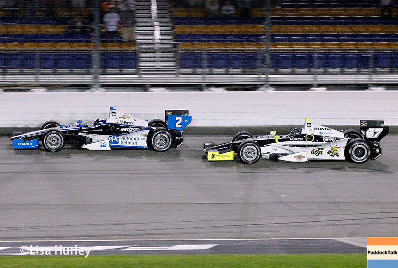 July 12: Juan Montoya and Josef Newgarden at the Iowa Corn Indy 300.