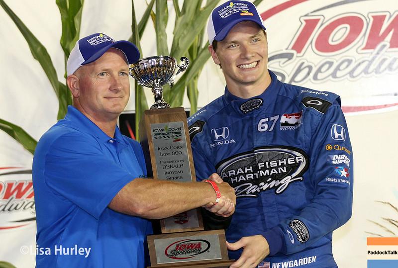 July 12: Second-place winner, Josef Newgarden, at the Iowa Corn Indy 300.