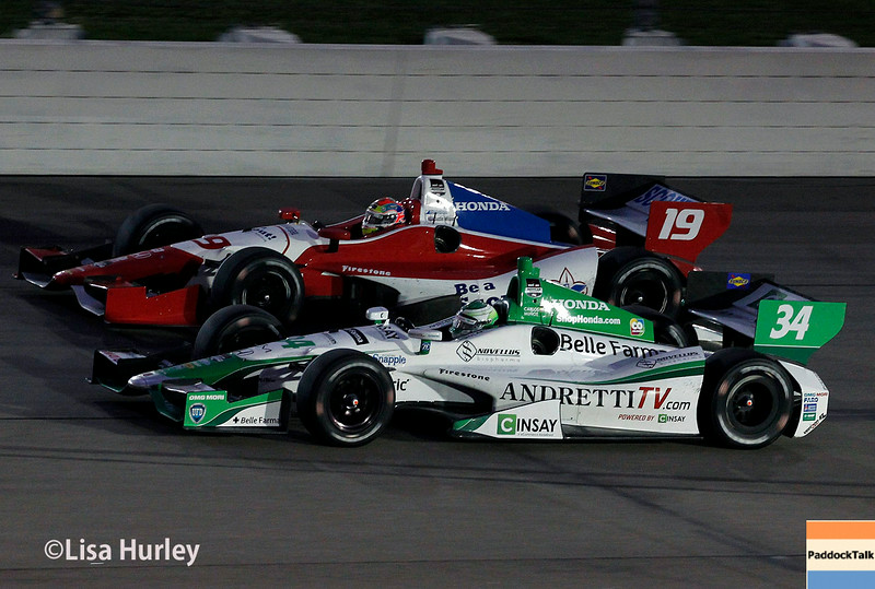 July 12: Justin Wilson and Carlos Munoz at the Iowa Corn Indy 300.
