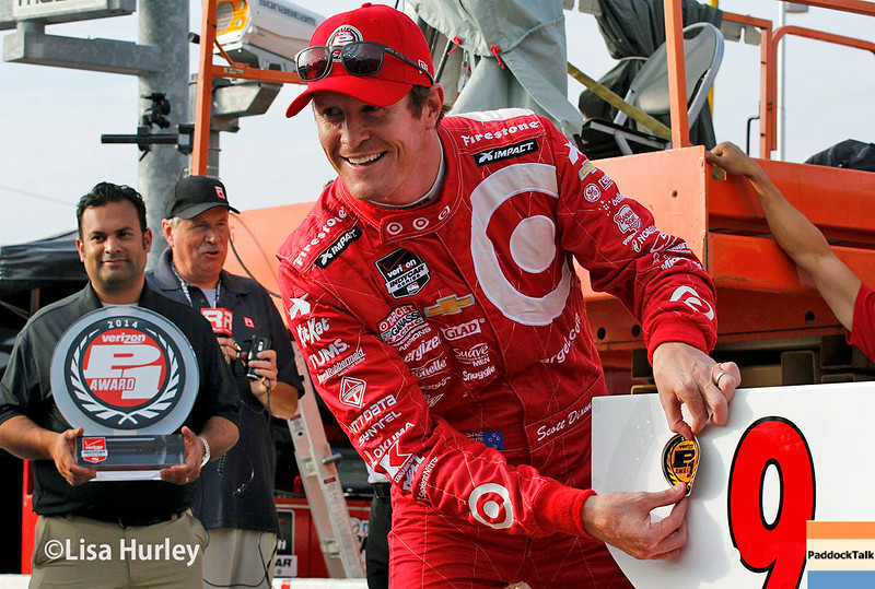 July 11: Scott Dixon wins the Pole at the Iowa Corn Indy 300.