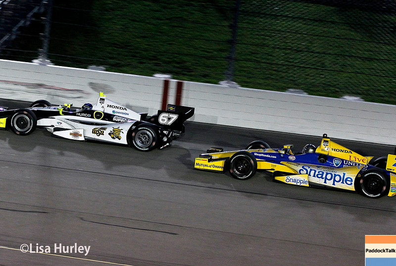 July 12: Josef Newgarden and Marco Andretti at the Iowa Corn Indy 300.
