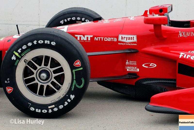 July 11: Tony Kanaan's car at the Iowa Corn Indy 300.