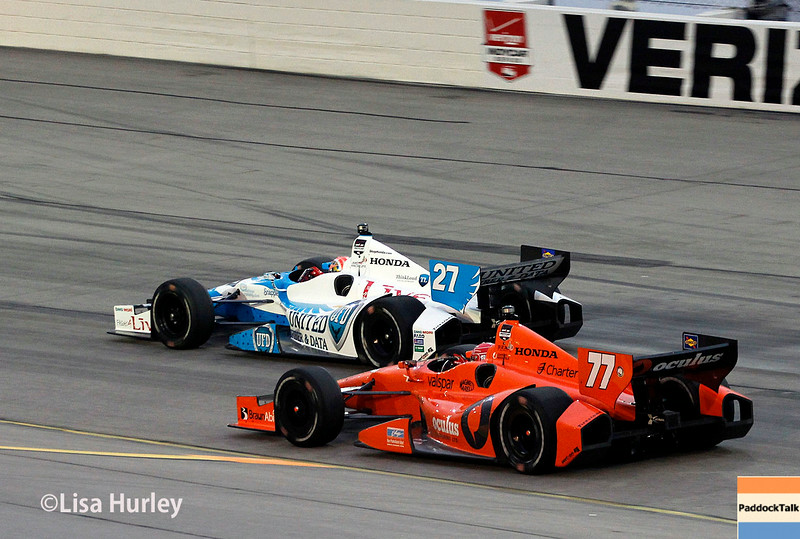 July 12: Simon Pagenaud and James Hinchcliffe at the Iowa Corn Indy 300.