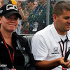 July 11: Sarah Fisher and Andy O'Gara at the Iowa Corn Indy 300.