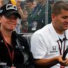 July 11: Sarah Fisher and Andy O'Gara at the Iowa Corn Indy 300.