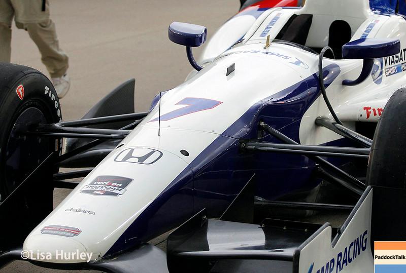 July 12: Mikhail Aleshin's car before the Iowa Corn Indy 300.