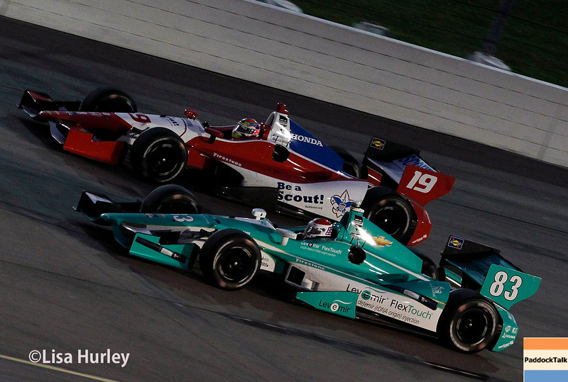 July 12: Charlie Kimball and Justin Wilson at the Iowa Corn Indy 300.