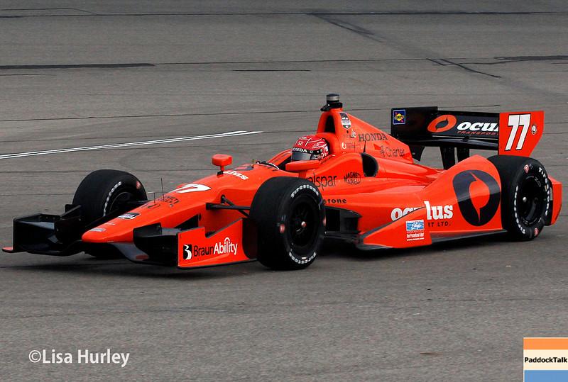 July 11: Simon Pagenaud at the Iowa Corn Indy 300.