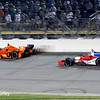 July 12: Simon Pagenaud and Justin Wilson at the Iowa Corn Indy 300.
