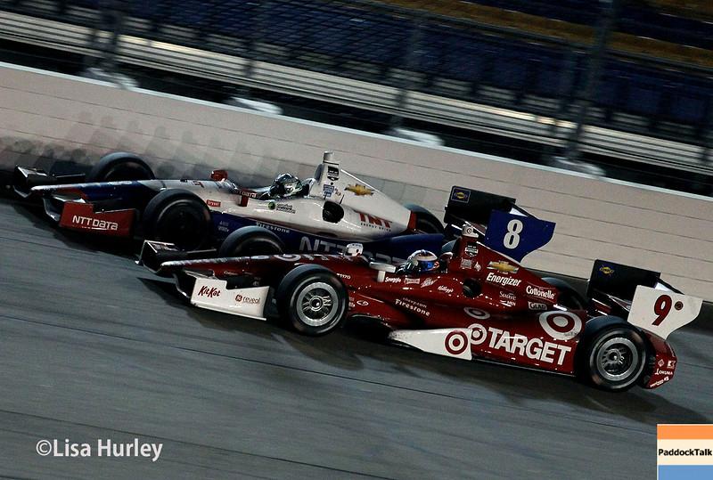 July 12: Ryan Briscoe and Scott Dixon at the Iowa Corn Indy 300.