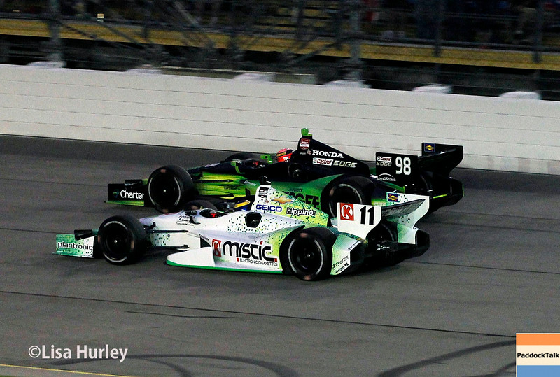 July 12: Jack Hawksworth and Sebastien Bourdais at the Iowa Corn Indy 300.