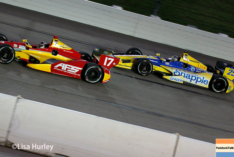July 12: Sebastian Saavedra and Marco Andretti at the Iowa Corn Indy 300.