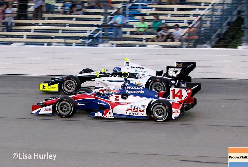 July 12: Takuma Sato and Josef Newgarden at the Iowa Corn Indy 300.