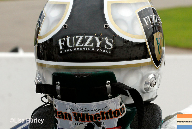 July 11: Ed Carpenter's helmet at the Iowa Corn Indy 300.