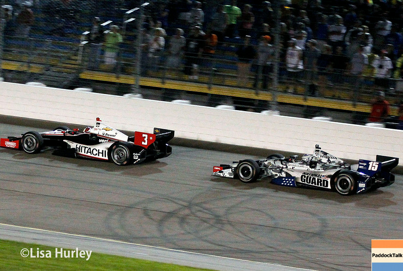 July 12: Helio Castroneves and Graham Rahal at the Iowa Corn Indy 300.
