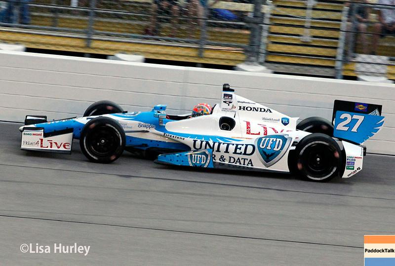 July 12: James Hinchcliffe at the Iowa Corn Indy 300.