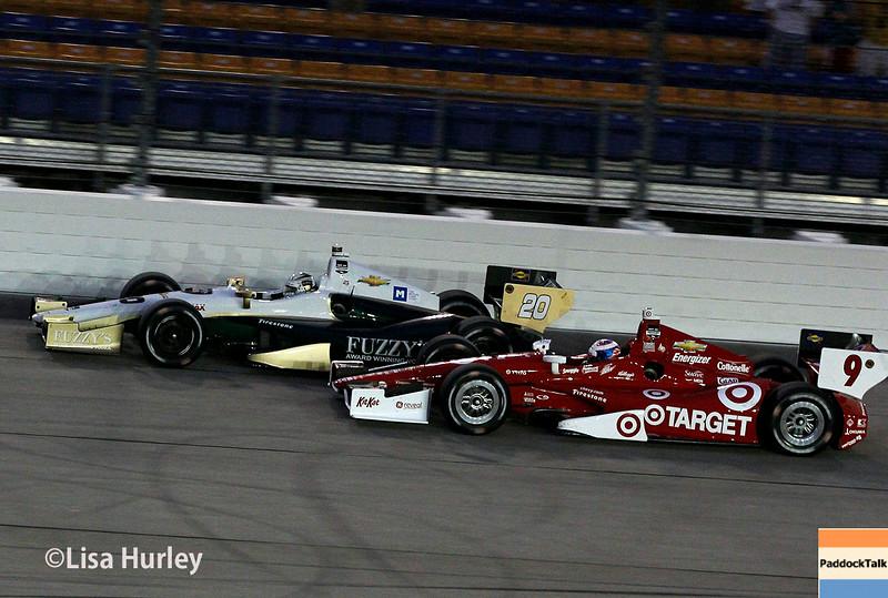 July 12: Ed Carpenter and Scott Dixon at the Iowa Corn Indy 300.
