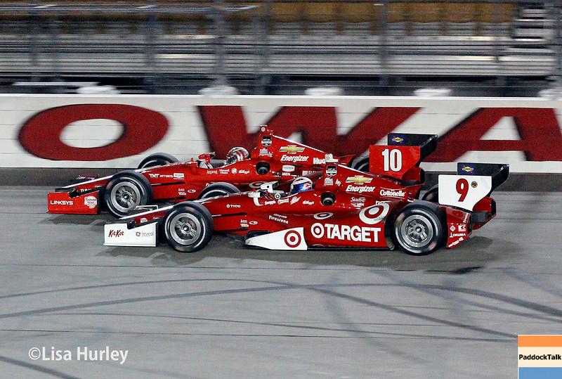 July 12: Tony Kanaan and Scott Dixon at the Iowa Corn Indy 300.