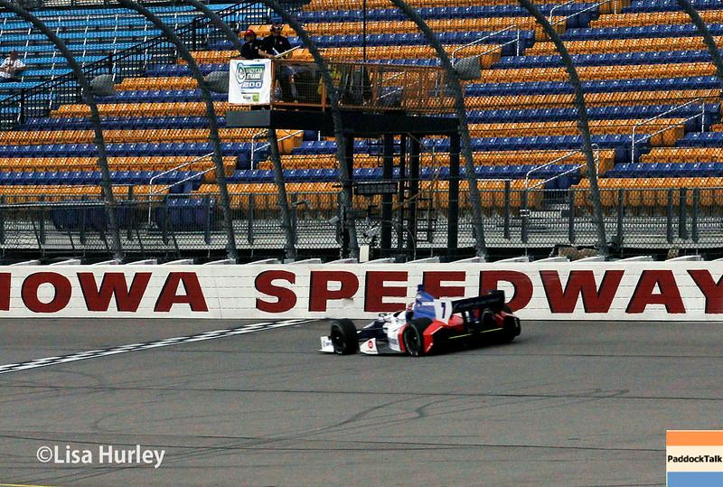 July 11: Mikhail Aleshin at the Iowa Corn Indy 300.