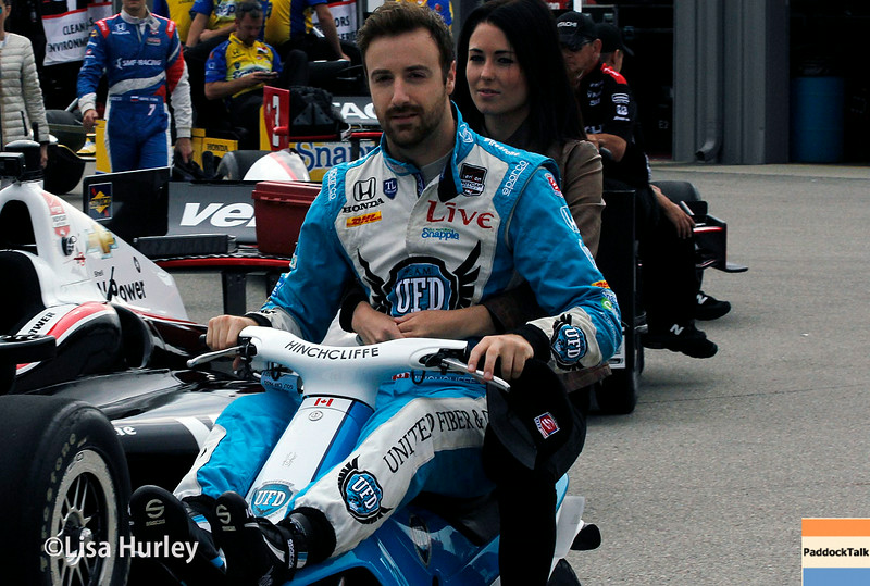 July 11: James Hinchcliffe at the Iowa Corn Indy 300.