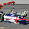 July 12: Takuma Sato's wrecked car at the Iowa Corn Indy 300.