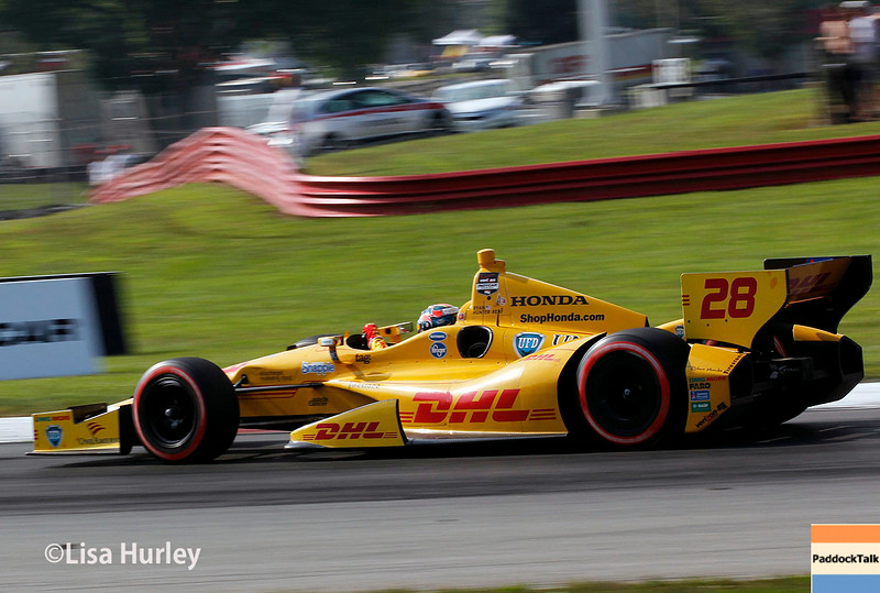 August 3: Ryan Hunter-Reay at The Honda Indy 200 at Mid-Ohio.
