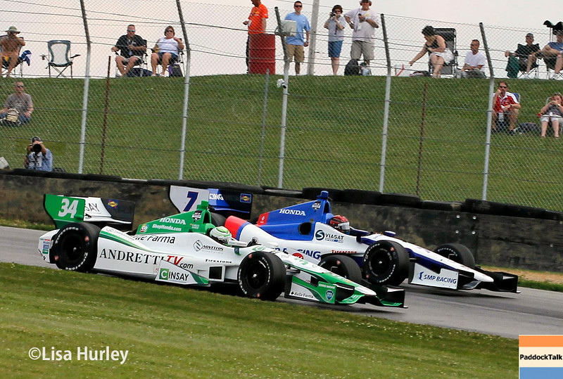 August 1: Mikhail Aleshin and Carlos Munoz at The Honda Indy 200 at Mid-Ohio.