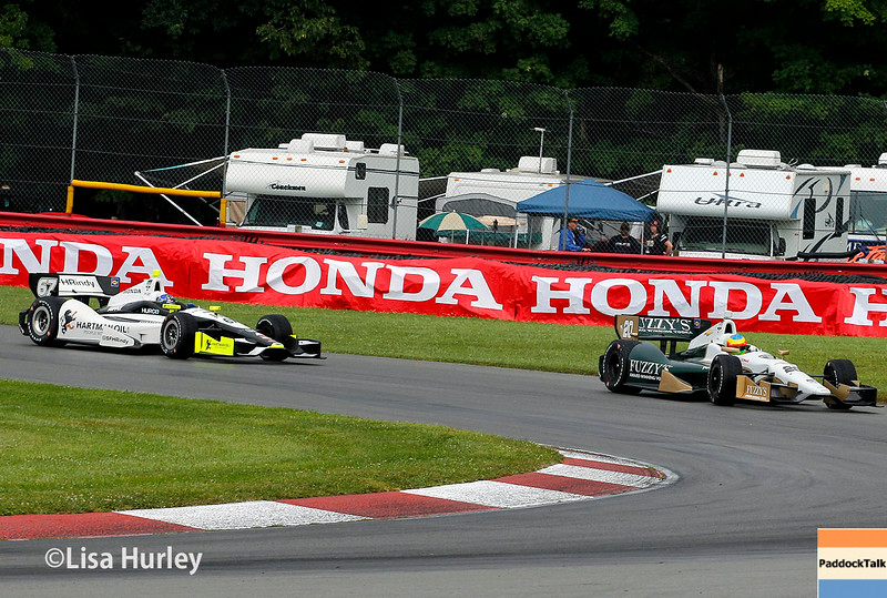 August 2: Josef Newgarden and Mike Conway at The Honda Indy 200 at Mid-Ohio.