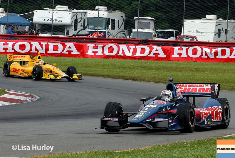 August 2: Ryan Hunter-Reay and Graham Rahal at The Honda Indy 200 at Mid-Ohio.