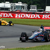 August 2: Ryan Hunter-Reay and Graham Rahal at The Honda Indy 200 at Mid-Ohio.