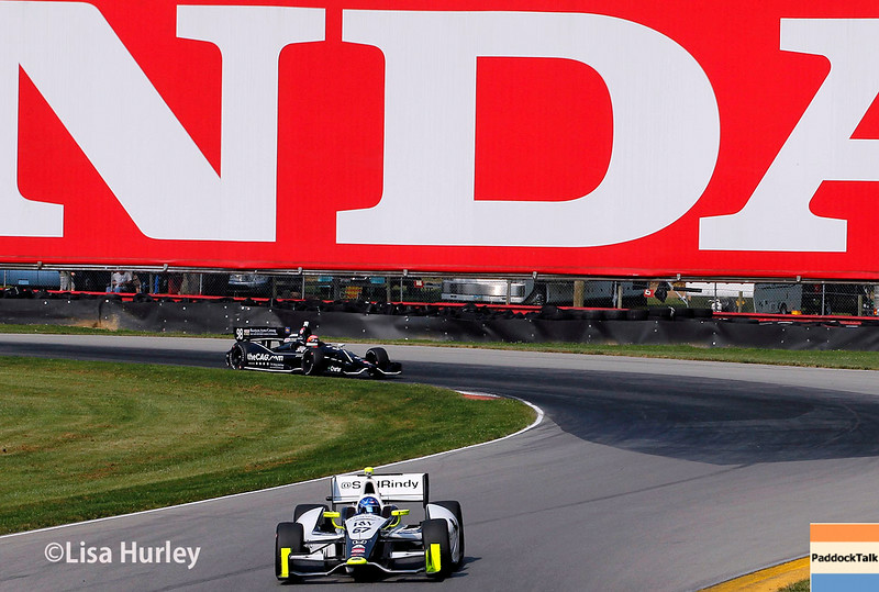 August 2: Jack Hawksworth and Josef Newgarden at The Honda Indy 200 at Mid-Ohio.