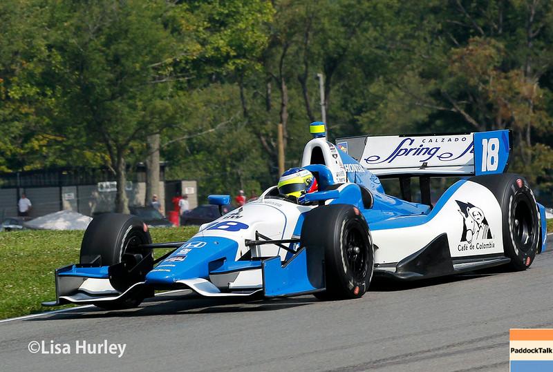 August 2: Carlos Munoz at The Honda Indy 200 at Mid-Ohio.